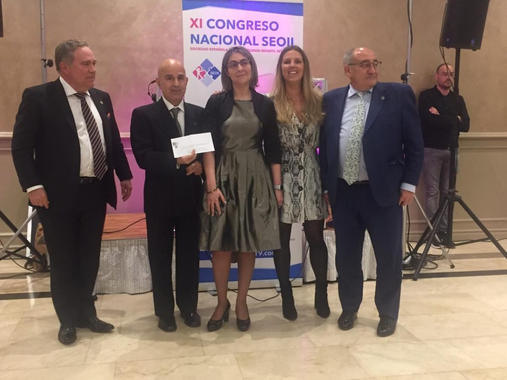 XI Congreso Nacional de la Sociedad Española de Odontología Infantil Integrada - Entrega de Premio a la mejor Comunicación oral